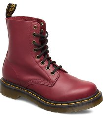 1460 pascal shoes boots ankle boots ankle boots flat heel röd dr. martens