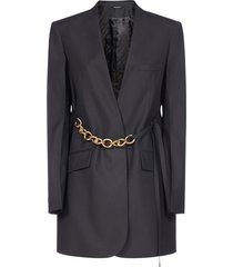 givenchy chain belt-detail wool blazer