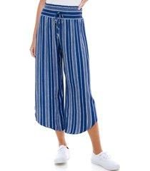 kingston grey juniors' cropped curved hem pants