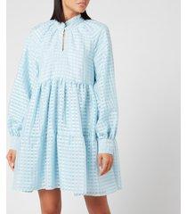 stine goya women's jasmine tiered mini dress - ice - l