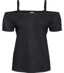 maglia lucida con spalle scoperte (nero) - bodyflirt