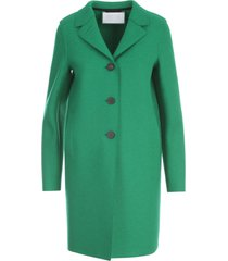 harris wharf london women button up boxy coat pressed wool