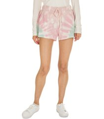 hippie rose juniors' tie-dye lounge shorts