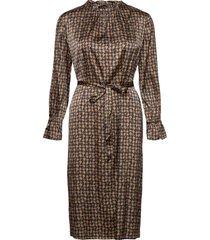 3174 satin - raya fs dress knälång klänning brun sand