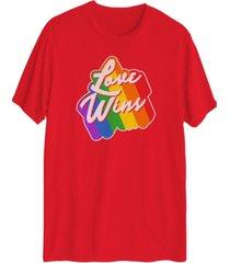 men's love wins short sleeve graphic t-shirt