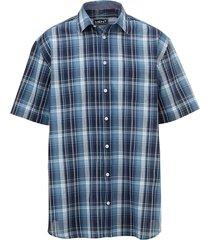 overhemd men plus marine//wit/blauw
