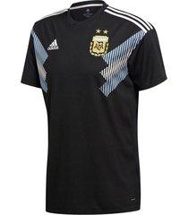 camiseta negra adidas argentina alternativa mundial 2018