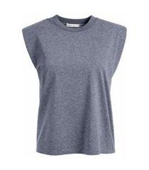 alice+olivia camiseta sem mangas braxton - cinza