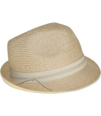 nine west packable classic braid fedora hat