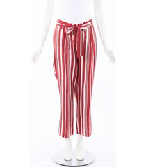 chinti and parker striped parasol pants red/white sz: m