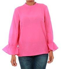 blouse only 15149954 onltoke flare 3/4 top wvn fuchsia purple