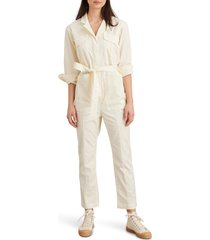 women's alex mill expedition twill jumpsuit, size large - ivory