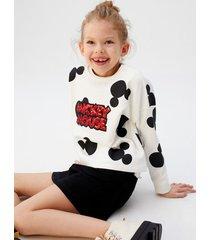 mickey mouse sweatshirt met pailletten