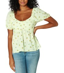 polly & esther juniors' puff sleeve babydoll top