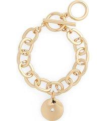 women's halogen medallion charm bracelet