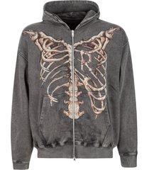 represent bones zip hoodie