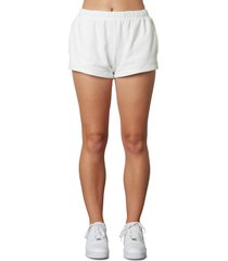 nia essential sweat shorts, size large in white at nordstrom