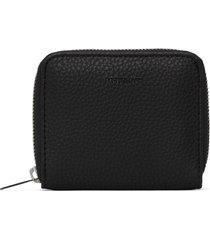 matt & nat rue small vegan zip wallet purity, black