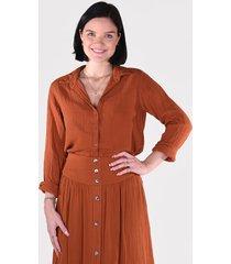 xirena blouse scout x11505 cognac