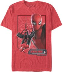 marvel men's spider-man upside-down profile spider-man short sleeve t-shirt