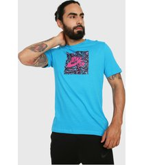 camiseta azul-rosado nike sb tee triangle hbr