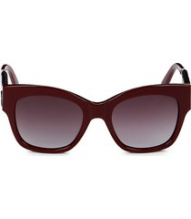 tod's women's 53mm square sunglasses - bordeaux
