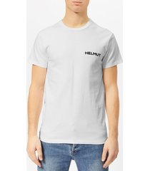 helmut lang men's little t-shirt with print - chalk white - xxl - white