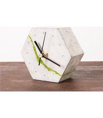 sześciokątny zegar stołowy- jasny