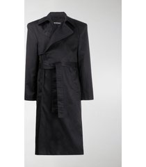 balenciaga structured shoulders trench coat