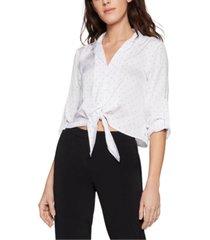 bcbgeneration satin tie-front blouse
