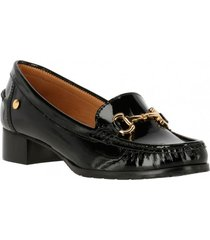 mocasin cuero jena black hush puppies
