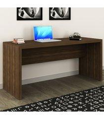 mesa para escritório nogal me4109 - tecno mobili