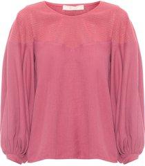 blusa feminina tela - rosa