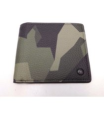 new men's armani exchange camo leather bill fold wallet