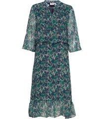 u6008, woven dress below knee jurk knielengte groen saint tropez