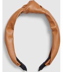 lane bryant women's faux-leather knot headband onesz camel