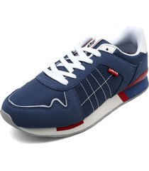 tenis azul-blanco levis