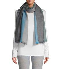 la fiorentina women's colorblock wool scarf - grey