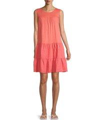 velvet women's charlotte tiered dress - strawberry pink - size xs