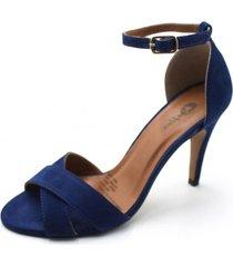 sandalia cuero azul marino be flex