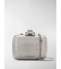 alexander mcqueen branded clutch bag