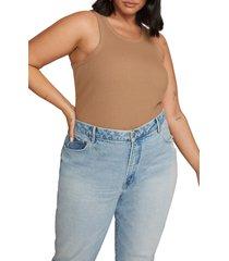 plus size women's good american chunky rib tank