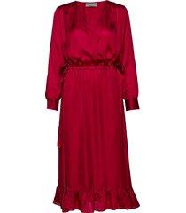 chita dress jurk knielengte rood mos mosh
