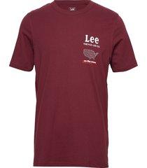 road tee t-shirts short-sleeved röd lee jeans