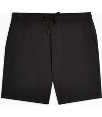 mens black washed jersey shorts