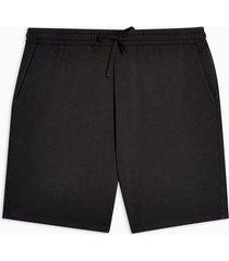 mens black washed jersey shorts