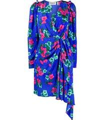 essentiel antwerp viesbeth draped dress - blue
