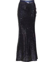 g1. full length sequin skirt lång kjol blå gant