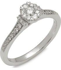 saks fifth avenue women's 14k white gold & diamond engagement ring - size 7