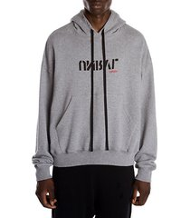 space-dyed oversized logo hoodie